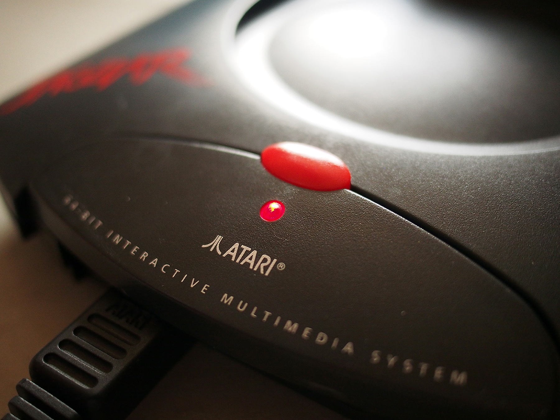 The Atari Jaguar 64-bit interactive multimedia system.